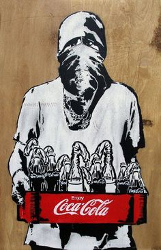 La guerre cache bien son jeu. / Street Art. / By Icy and Sot.
