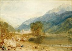J. M. W. Turner - A View from the Castle of St-Michael, Bonneville, Savoy, from the Banks of the Arve River