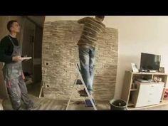 FabroStone beltéri falburkolat burkolása - YouTube