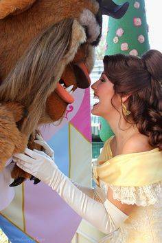 Belle and Beast sharing a laugh...well, I think he's laughing