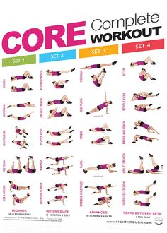 The FightThrough Fitness Complete Core and Fitness Ball Workout Posters from Productive Fitness are 18 x 24 laminated wall charts designed to guide the exerciser through core training exercises and proper use of body balls, stability balls, balance ba Fitness Herausforderungen, Fitness Motivation, Physical Fitness, Health Fitness, Fitness Journal, Cardio Fitness, Fitness Memes, Fitness Planner, Fitness Fashion