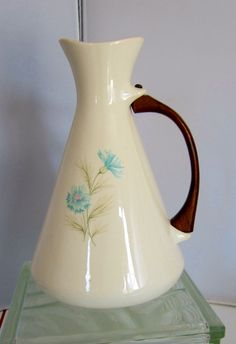 Vintage 1950s Taylor Smith & Taylor Ever Yours Boutonniere Pitcher Carafe.