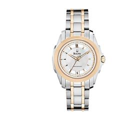 Bulova Women's 98M106 Precisionist Rose and Stainless-Steel Two-Tone Watch