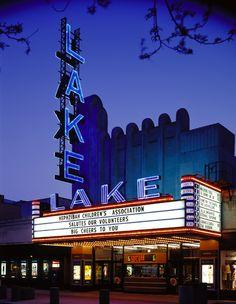 Lake Theatre Marquee in downtown Oak Park, IL