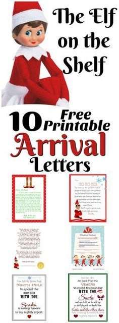 Elf on the Shelf Ideas for Arrival: 10 Free Printables!