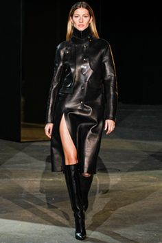 Alexander Wang Fall 2012 Ready-to-Wear Collection - Leather Trench