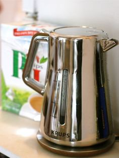 """The Silver Art Collection Electric Water Kettle by Krups — Product Review.... also """"need"""" the coffee msker :)"""