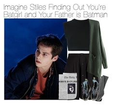 """""""Imagine Stiles Finding Out You're Batgirl and Your Father is Batman"""" by fandomimagineshere ❤ liked on Polyvore featuring Boohoo, adidas Originals, Dr. Martens and living room"""