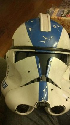 Clone Trooper helmet with battle damage