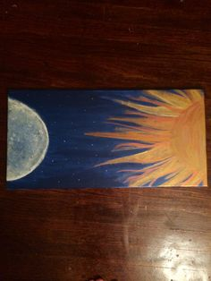 Moon & Sun Canvas Painting by CreationsByCnC on Etsy, $20.00