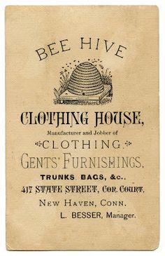 Vintage Advertising Ephemera – Bee Hive Clothing- use with the locker redo