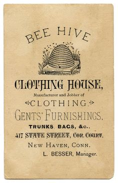 *The Graphics Fairy LLC*: Vintage Advertising Ephemera - Bee Hive Clothing vintage aged ephemera