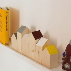 Wooden houses scandinavian inspiration by VillaGypsy on Etsy, €22.00