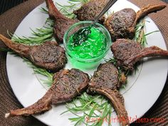 Rosemary Lamb Lollipops with Mint Jelly