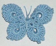 #Crochet, free pattern, 3-D Butterfly, #haken, gratis patroon (Engels), vlinder, haakpatroon