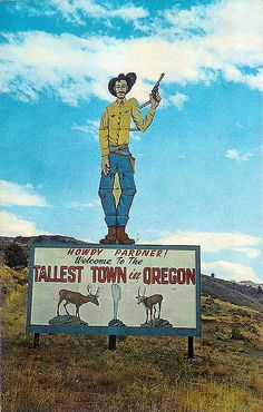 Vintage Lakeview Oregon postcard by Vintage Roadside
