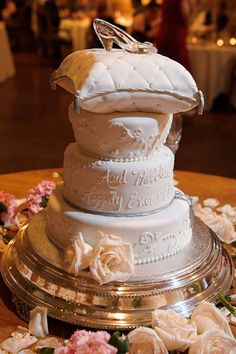 Top your fairy-tale cake with a glass slipper.