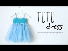 How to make a TUTU dress with CROCHET TOP (all sizes, no sew tutu) ♥ CROCHET LOVERS - YouTube