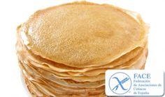 Panqueques sin gluten, sin TACC, apto para celiacos