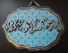 Hand Painted SHALOM plaque