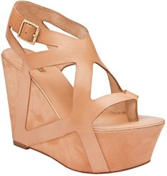Report Signature Platform Wedge Sandals in Pink (tan) | Lyst