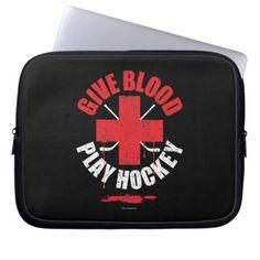 Give Blood Play Hockey v1 Laptop Sleeve
