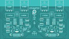 icu ~ Audio Amplifier Top PCB in 2019 Hifi Amplifier, Class D Amplifier, Ab Circuit, Circuit Diagram, Waves Audio, Circuit Board Design, Electronic Schematics, Diy Electronics, Abs