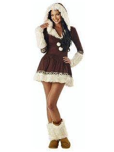 Sexy Inuit #Kostüm für Damen!  Kategorie: Karnevalskostüme Klassiker. Retro Outfits und Verkleidungen für die Fünfte Jahreszeit!  #Fasching #Fasnacht #Karneval