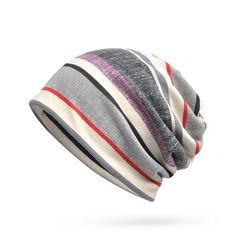 c163518d1e6 Women Mens Soft Breathable Stripe Beanies Cap Multifunction Collar Scarf is  hot sale on Newchic.