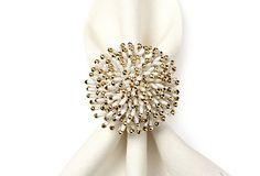 S/4 Sunburst Napkin Rings, White on OneKingsLane.com