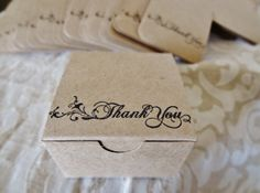 Only 35 cents each - Personalized Kraft favor box - set of 50 - favor box - favors - kraft box - rustic wedding favors on Etsy, $17.50