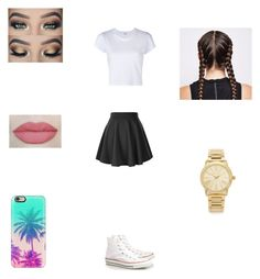 """""""Cute outfit"""" by itsnina101 on Polyvore featuring RE/DONE, Converse, Casetify and Michael Kors"""