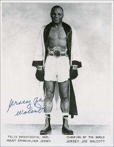 Arnold Raymond Cream (January 31, 1914 – February 25, 1994), better known as Jersey Joe Walcott, was a world heavyweight boxing champion. He broke the world's record for the oldest man to win the world's Heavyweight title when he earned it at the age of 37 years, 168 days, a record that would be broken on November 5, 1994, by George Foreman, who defeated the 26 year old Heavyweight champion of the world Michael Moorer at the age of 45, to win the WBA and IBF heavyweight titles.