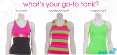 What's your go-to tank? Dance Stuff, Flipping, Athletic Tank Tops, Clothing, Women, Fashion, Outfits, Moda, Clothes