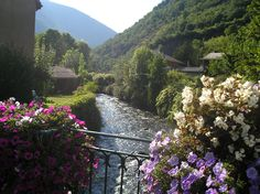 River in Luchon, France. One of the best ways to explore the Pyrénées region is by bike. Find out more about our self-guided cycling trips here: http://www.discoverfrance.com/regions/pyrenees-cycling-tours.php