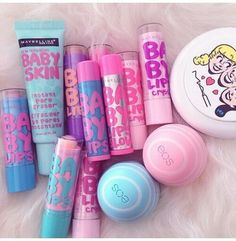 eos, baby lips, and pink resmi