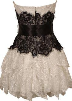 Strapless Bustier Contrast Lace and Crinoline Ruffle Prom Mini Dress Junior Plus Size Formal Prom, Formal Dresses, Prom Dresses Under 100, Strapless Bustier, Junior Plus Size, Junior Dresses, Contrast, Ballet Skirt, Mini