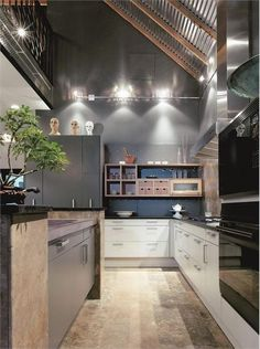 Elegant Contemporary Kitchen by Joan DesCombes on HomePortfolio