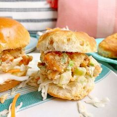 Today, we're making Fried Chicken Salad Sliders! Yes, you read that right. We're taking leftover fried chicken, turning it into chicken salad, and serving it on cute little sandwiches. But here's what great about this recipe...you don't need to have leftover fried chicken to make it. Using a supermarket shortcut, we have an alternative option that allows us to whip up this chicken salad whenever we want!Before we talk chicken, let's start with the creamy dressing we're going to make… Over Fried Chicken, Fried Chicken Salads, Making Fried Chicken, Fried Chicken Skin, Chicken Recipes, Breaded Chicken Tenders, Sandwich Fillings, Mini Sandwiches, Coleslaw Mix