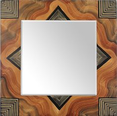 Arizona Square Mirror by Ingela Noren and Daniel Grant: Wood Mirror available at www.artfulhome.com