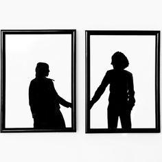 Wil je graag meer foto's in je kamer, zonder een hele collagewand vanalleen maar foto's te krijgen? Wissel je schilderijtjes dan af met een silhouet portret! Het enige was je nodig hebt is een goede foto, verf en wit papier. 1. Omlijn het silhouet van de foto met een stift, zodat het makkelijker knippen is …