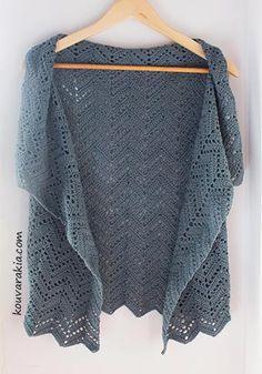 Chevron Wrap Vest - free crochet pattern in English and Greek by Stella Kouvarakia. Includes photos, written instructions, schematics and chart. Crochet Wrap Pattern, Chevron Crochet, Crochet Ripple, Free Crochet, Knit Crochet, Crochet Patterns, Crochet Tops, Crochet Stitches, Crochet Jacket