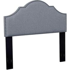 Hallmar Arched Fabric Headboard with NailHead Trimming, Full/Queen