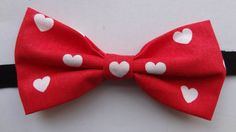 Bow Tie Valentine Red White Hearts by ThomBancheral on Etsy, €12.00