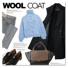 """""""Wool coat"""" by cookienguyen ❤ liked on Polyvore featuring mode, Rachel Comey, Topshop et I Love Mr. Mittens"""