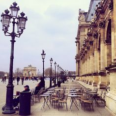 We need to take pictures here! Café Marly Paris