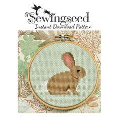 INSTANT DOWNLOAD Bunny Cross Stitch Pattern por Sewingseed en Etsy, $5.00
