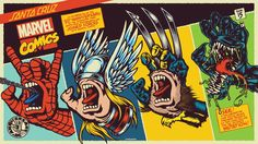 Killer combination! Marvel x Santa Cruz