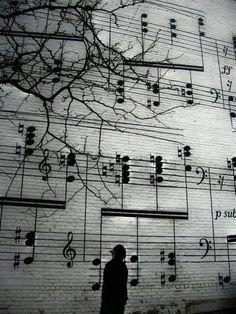 music note street art