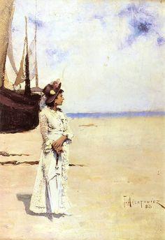 Teodor Axentowicz On the Seaside, 1883